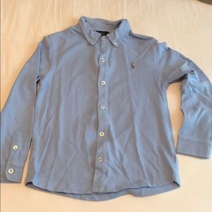 Light Blue Polo Long Sleeve Shirt
